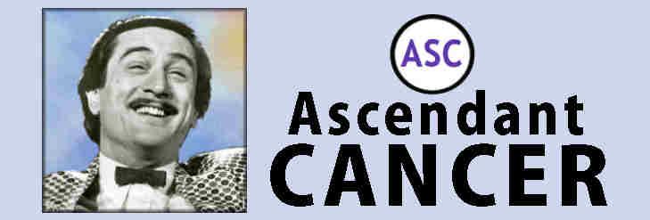characteristics of Leo, Robert DeNiro, Cancer Rising