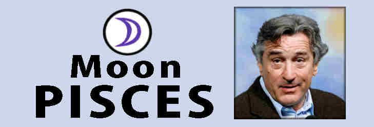 caricatures of Leo, Robert DeNiro, Pisces Moon