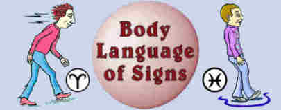 body language of zodiac signs