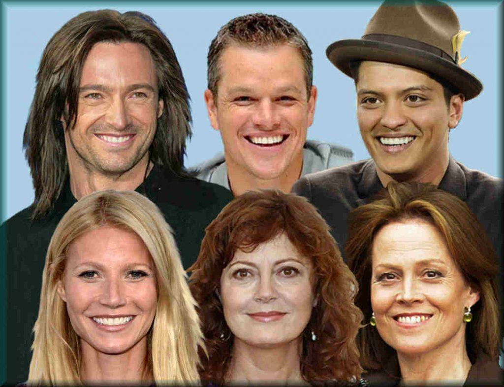facial characteristics of libra celebrities
