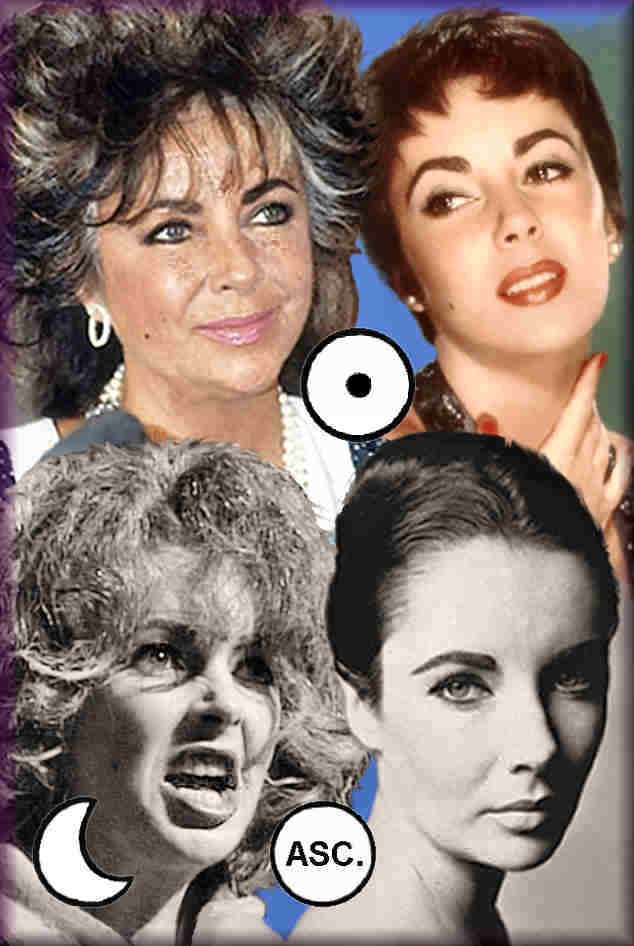 astrological portraits, Liz Taylor