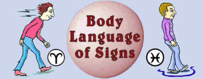 boby language of the zodiac